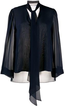 Chloé Lavalliere silk blouse