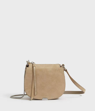 AllSaints Glitz Mini Round Leather Crossbody Bag