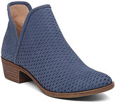 Lucky Brand Bashina Nubuck Leather Stacked Heel Booties