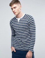 Esprit Long Sleeve Raglan Top with Printed Stripe