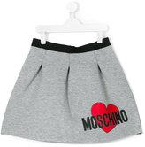 Moschino Kids pleated logo skirt