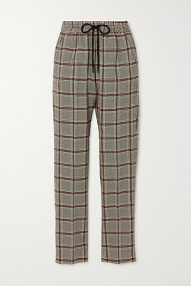 MUNTHE Checked Woven Tapered Pants - Gray