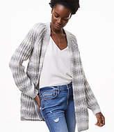 LOFT Ombre Striped Open Cardigan