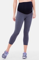 Ingrid & Isabel R) Active Maternity Capri Pants with Crossover Panel