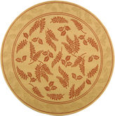Safavieh Courtyard Leaves Indoor/Outdoor Round Rugs