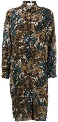 Salvatore Ferragamo leaves print shirt dress