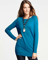 Ann Taylor Scoop Neck Tunic Sweater