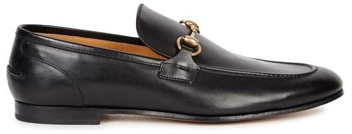 Gucci Black Horsebit Leather Loafers