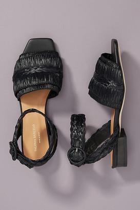Paloma Barceló Gisele Raffia Sandals By in Black Size 37