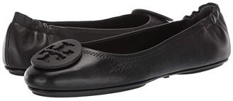 Tory Burch Minnie Travel Ballet w/ Logo (Perfect Black) Women's Shoes