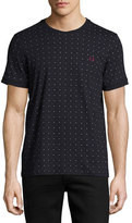 Fred Perry Square-Print T-Shirt, Navy