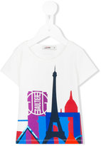 Junior Gaultier Eiffel Tower print t-shirt