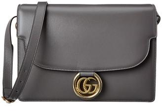 Gucci Torchon Double G Leather Shoulder Bag