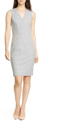 Ted Baker Avriild Check V-Neck Sheath Dress