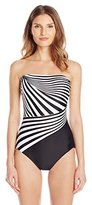 Gottex Women's Illusion Bandeau One-Piece Swimsuit
