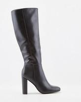 Le Château Faux Leather Almond Toe Knee High Boots