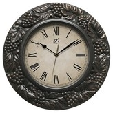 "Infinity Instruments Naples Wall Clock - 13.5""D - Brown"