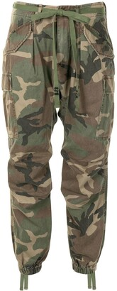 R 13 Camouflage-Print Drop-Crotch Trousers
