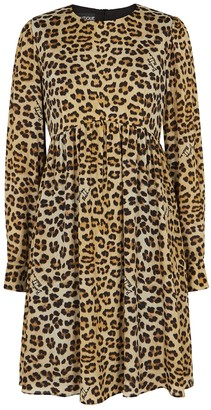 Boutique Moschino Leopard-print mini dress