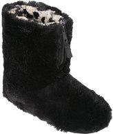 Dearfoams Women's Pile Boot Slipper with Zipper