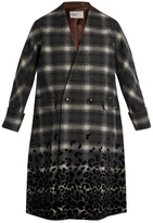 Kolor Checked wool-blend coat