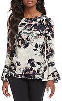 Preston & York Shina Long Bell Sleeve Floral Blouse
