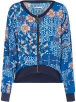 Genevie Constantinople Blue Bomber Jacket