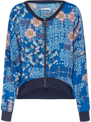 Genevie Constantinople Blue Bomber Jacket