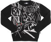 Molo Night Detective Cotton Jacquard Sweater