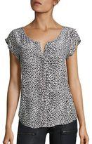 Joie Iva Leopard-Print Silk Top