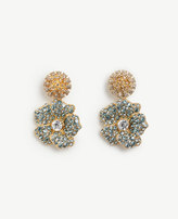 Ann Taylor Floral Crystal Earrings