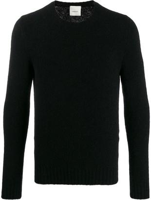 Leqarant Textured Knit Crew Neck Sweater