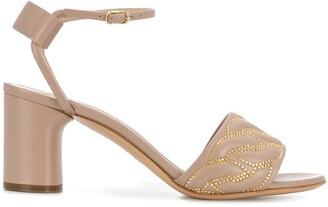 Casadei Chain-Studded Sandals