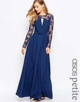 Asos Kate Lace Maxi Dress with Long Sleeves
