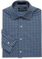 Saks Fifth Avenue BLACK Men's Checkered Slim-Fit Cotton Dress Shirt