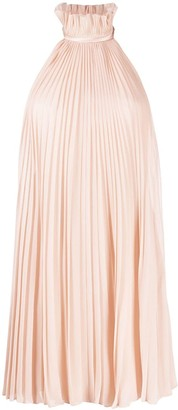 Givenchy Pleated Halterneck Dress