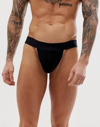 Asos Design DESIGN tanga jock strap in black