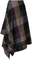 Etro checked asymmetric skirt - women - Cotton/Viscose/Wool - 42