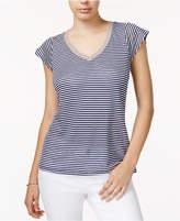 Maison Jules Striped Linen T-Shirt, Only at Macy's