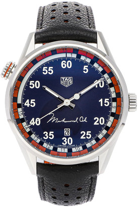Tag Heuer Blue Stainless Steel Carrera Calibre 5 Muhammad Ali Special Edition WAR2A11. FC6337 Men's Wristwatch 43 MM