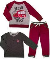 Nannette 3-Pc. Sweatshirt, Henley & Pants Set, Toddler & Little Boys (2T-7)