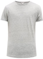 Orlebar Brown Ob-t Striped Linen T-shirt - Mens - Grey