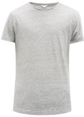 Orlebar Brown Ob-t Striped Linen T-shirt - Mens - Grey