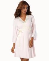 Soma Intimates Belabumbum Nursing Robe With Contrast Lace Pink