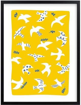 Pottery Barn Kids west elm x pbk Taking Flight Wall Art by Minted®, White, 11x14