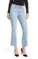 Good American Women's Crop Raw Edge Bootcut Jeans