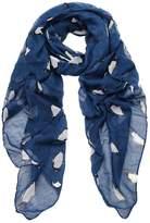 FranterdWomen Penguin Print Voile Rectangle Scarves