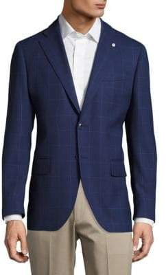 Lubiam Wool Windowpane Jacket