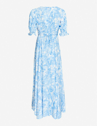Faithfull The Brand Linnie abstract-print rayon midi dress