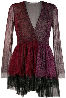 Philosophy di Lorenzo Serafini animal-print two-tone tulle dress